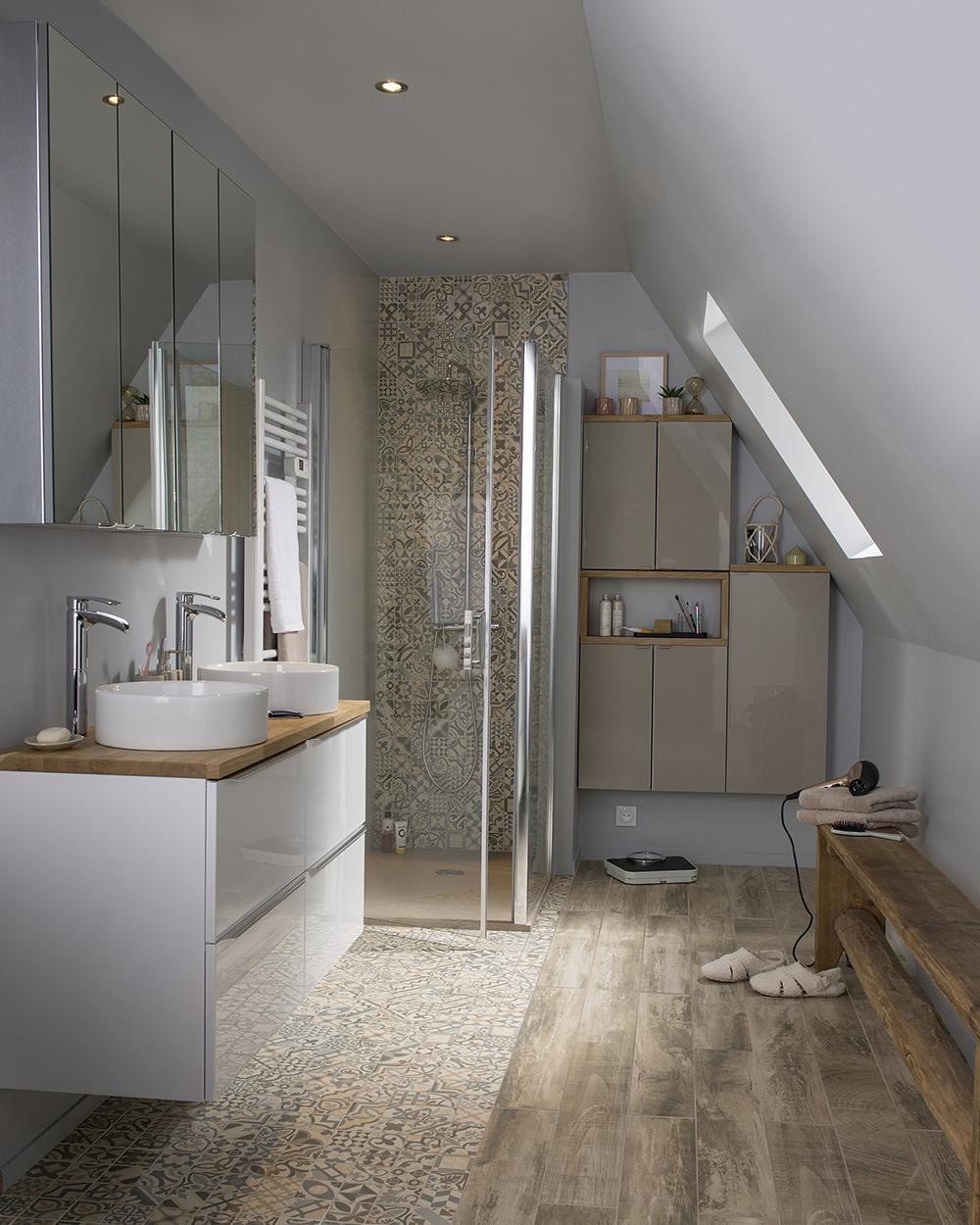 Salle De Bain Motif aménager sa salle de bains avec style !